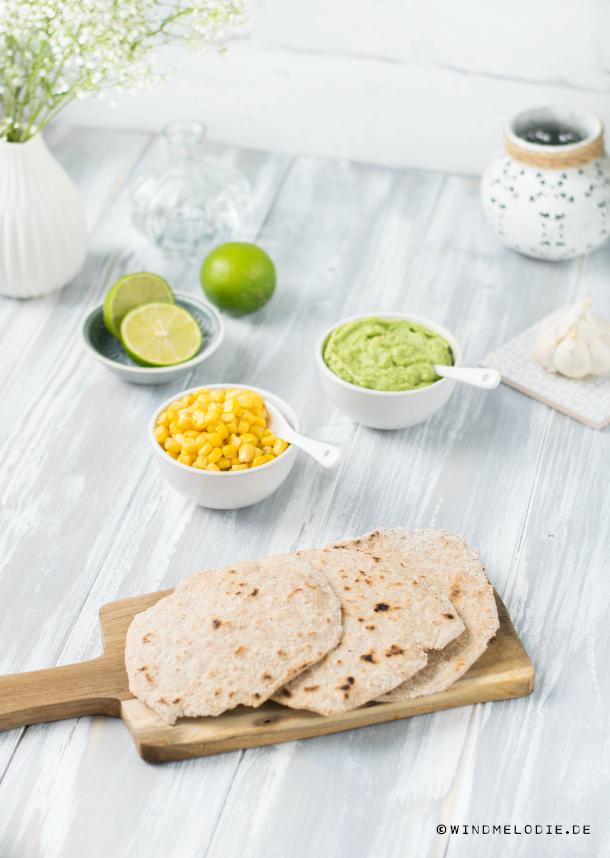 Vollkorn Dinkel Tortillas selber machen Rezept Jamie Oliver