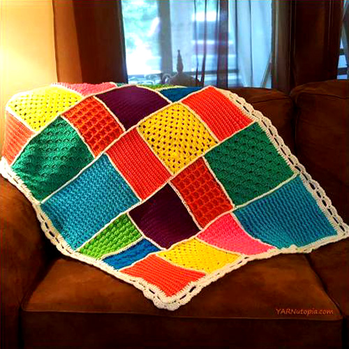 Dream-Time Mosaic Baby Quilt - Free Pattern