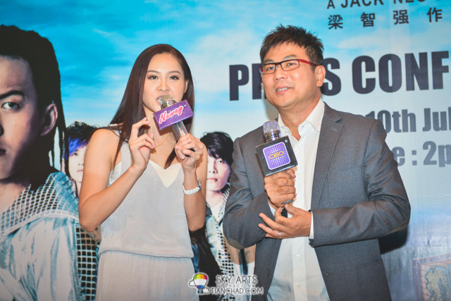 Emcee together with Director Jack Neo
