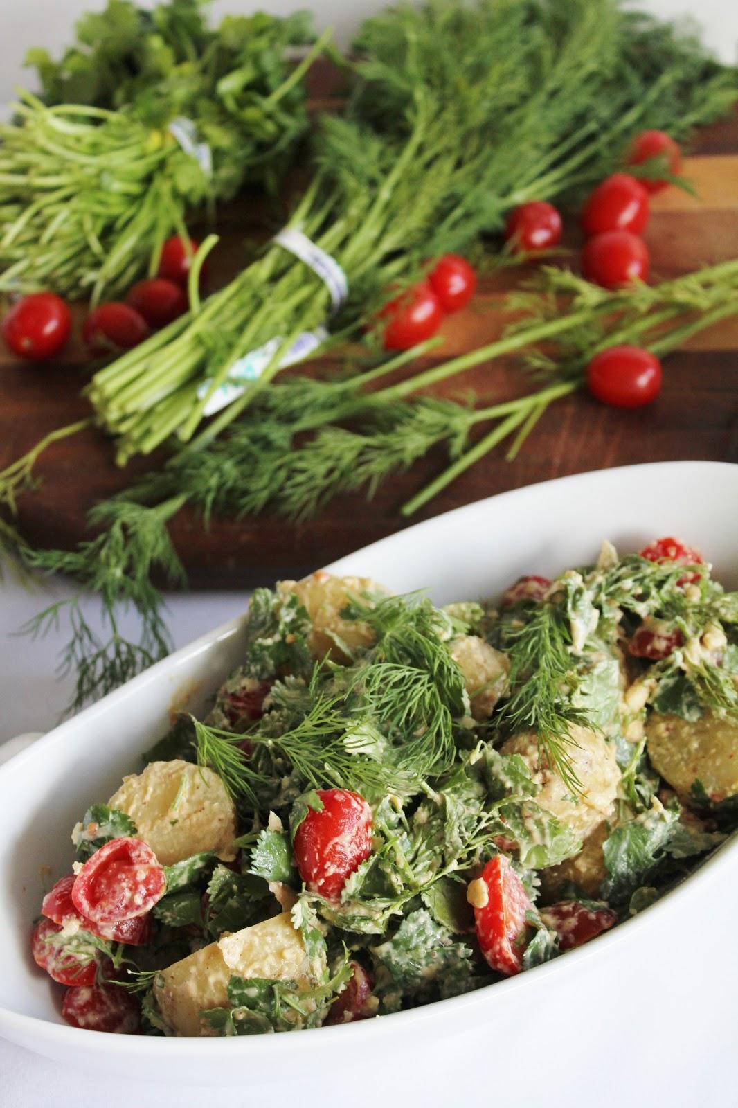 This Rawsome Vegan Life Potato Salad With Cilantro Dill