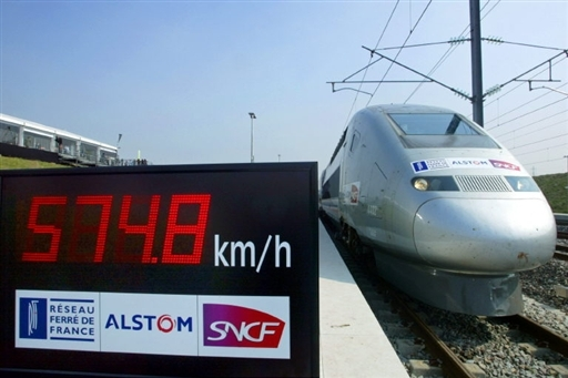 TGV record de vitesse Alstom