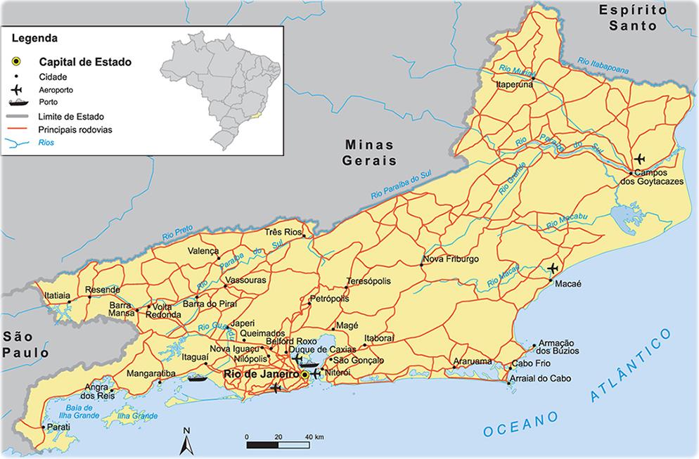 Mapas do Estado do Rio de Janeiro