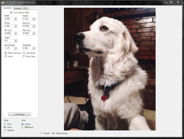raw image in halftoner software