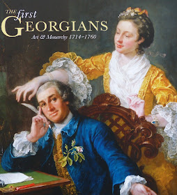David and Eva Garrick by Hogarth  on poster advertising The First Georgians exhibition