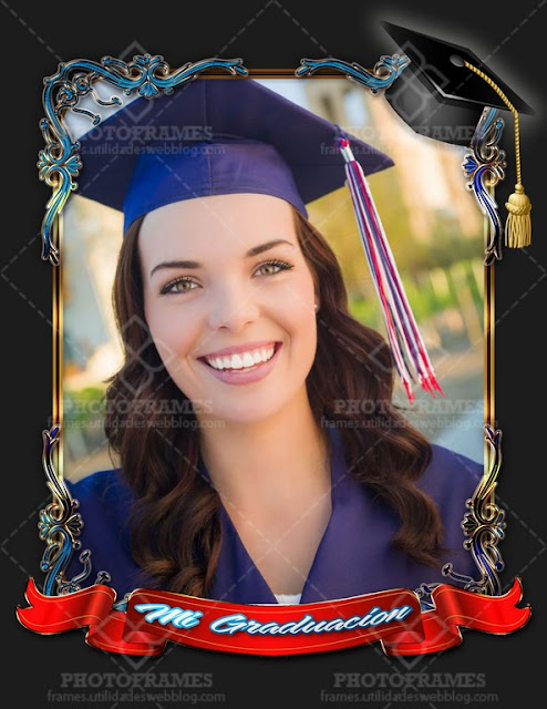 Elegante marco para fotos de graduación