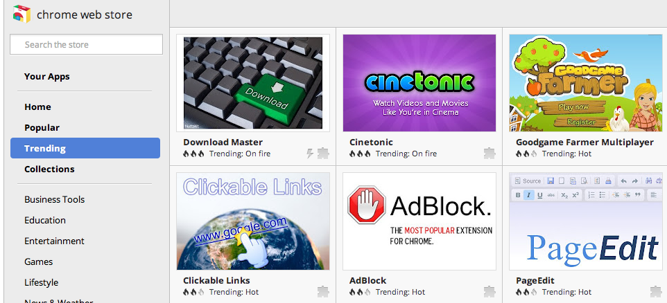 Google Chrome Blog: Zap! Finding the right app and extension