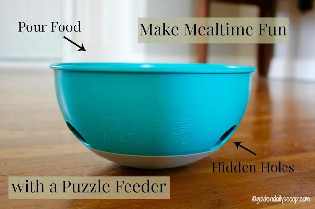 Dog bowl for mealtime, dog puzzle,