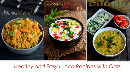 Oats Lunch recipes-Lunch recipes with oats