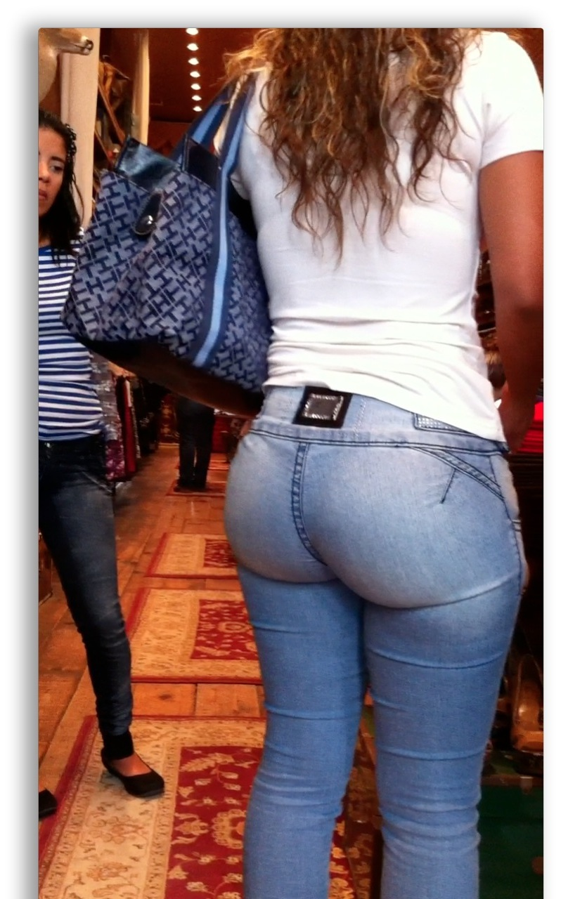 Tight jeans bubble butt-2836