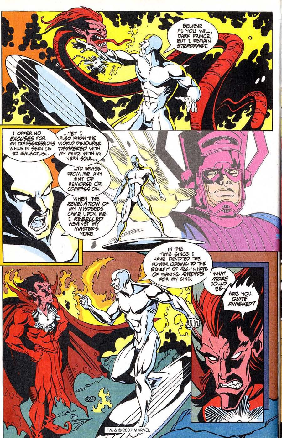 Read online Silver Surfer (1987) comic -  Issue #100 - 22