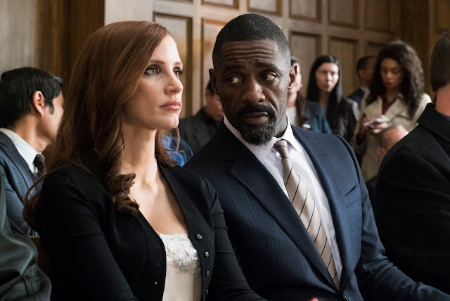 "Jessica Chastain and Idris Elba in Aaron Sorkin's ""Molly's Game"""