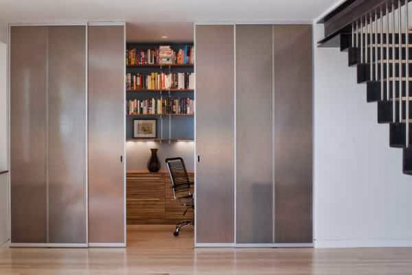 Hidden Sliding Hallway Glass Door