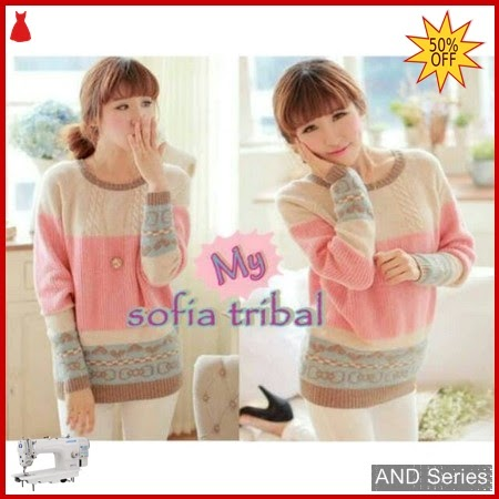AND209 Sweater Wanita Sofia Tribal Cewe BMGShop