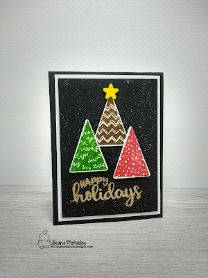 Happy Holidays a card by Diane Morales | Festive Forest Stamp Set | Newtons Nook Designs