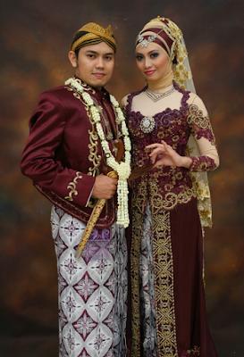 busana pengantin muslimah adat jawa