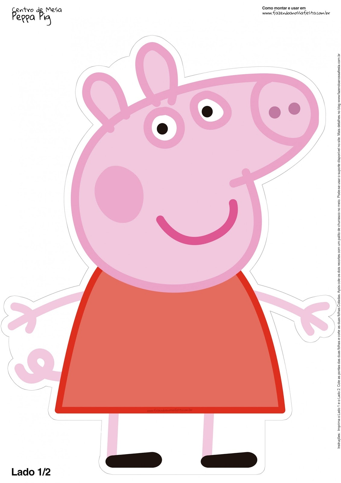 photograph regarding Peppa Pig Character Free Printable Images called Peppa Pig Cost-free Printable Centerpieces. - Oh My Fiesta! in just