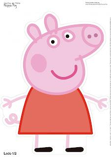 Centro de Mesa de Peppa Pig para Imprimir Gratis.