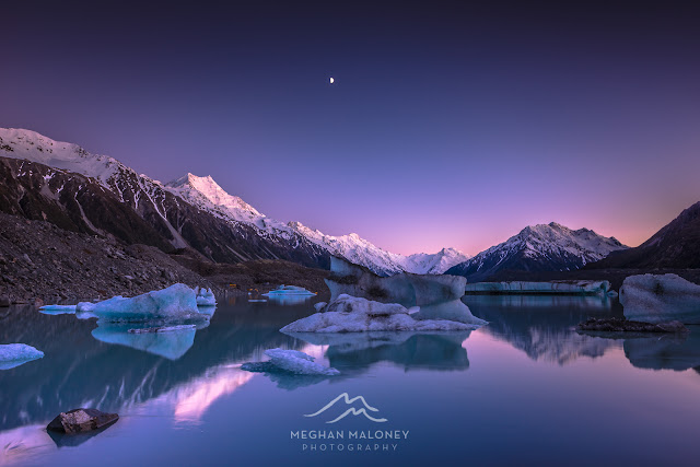 dawn tasman glacier mt cook