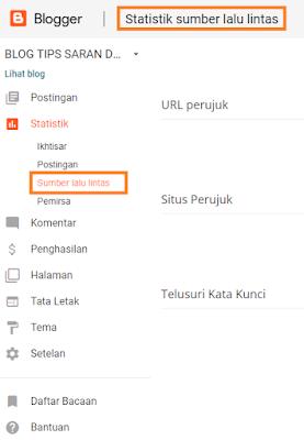 Fungsi Sepuluh (10) Menu Pada Dashboard Blogger