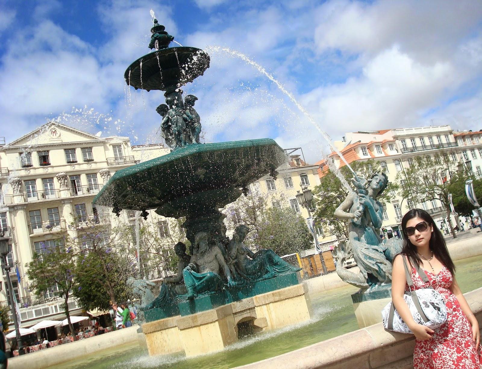 Rossio Square, Lisbon, Portugal