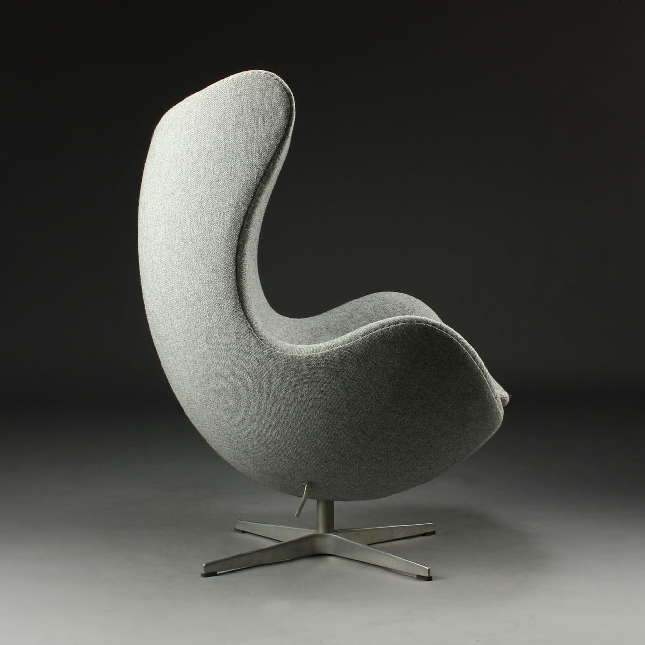 modern egg chair reclining chaise fritz hansen arne jacobsen in kvadrat tonica