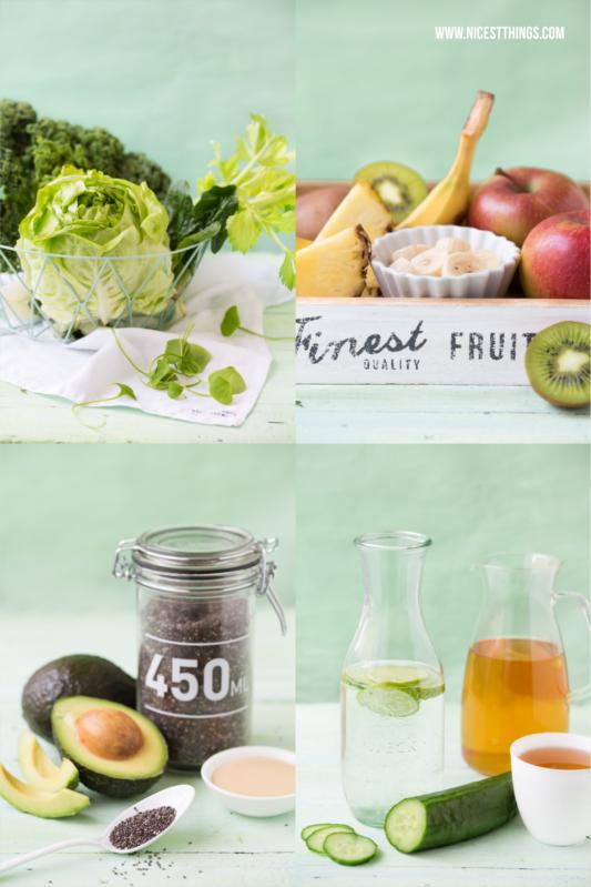 Grüne Smoothies Grundrezept: Grundzutaten für einen grünen Smoothie