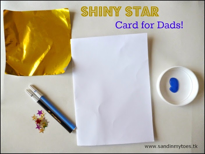 Materials for making a shiny star card