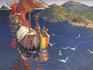 Viking Age - Guests from Overseas by Nicholas Roerich