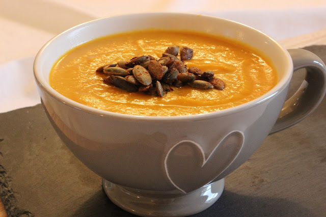 roasted butternut squash carrot and coconut soup