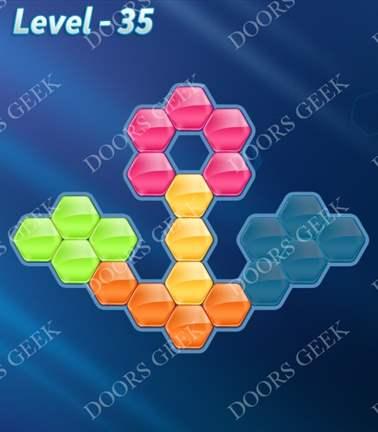 Block! Hexa Puzzle [Rainbow A] Level 35 Solution, Cheats, Walkthrough for android, iphone, ipad, ipod