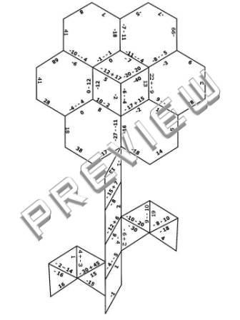 The Math Magazine: Integers Practice Puzzle Cut & Paste