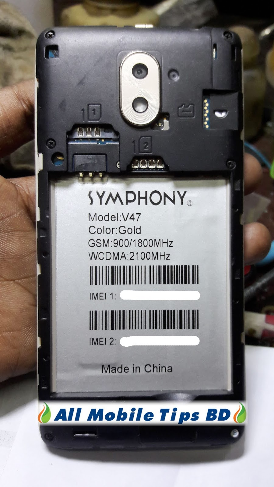 Symphony V47 MT6580 Firmware Test File Without Password - All Mobile