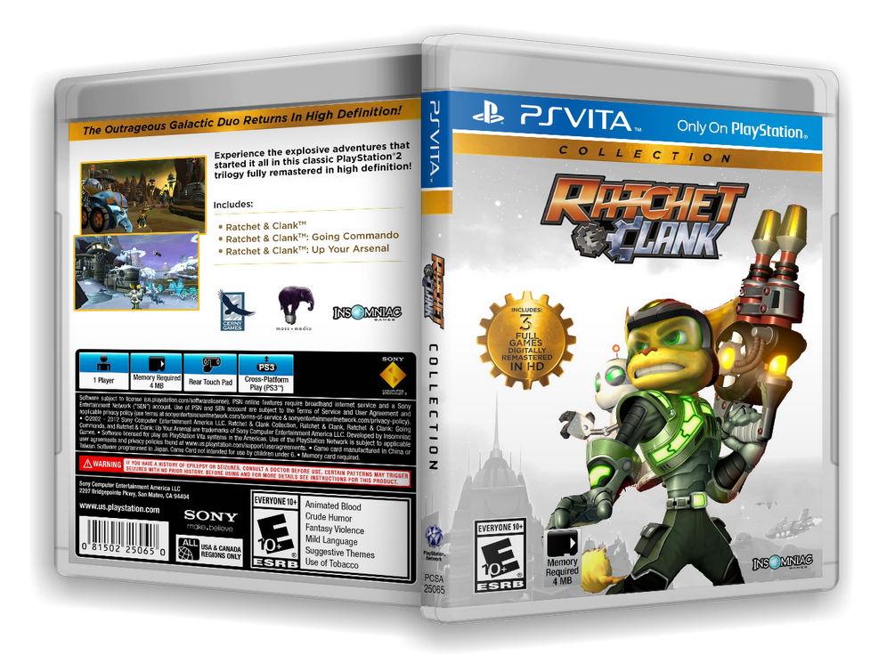 Capa Ratchet & Clank Collection PS Vita