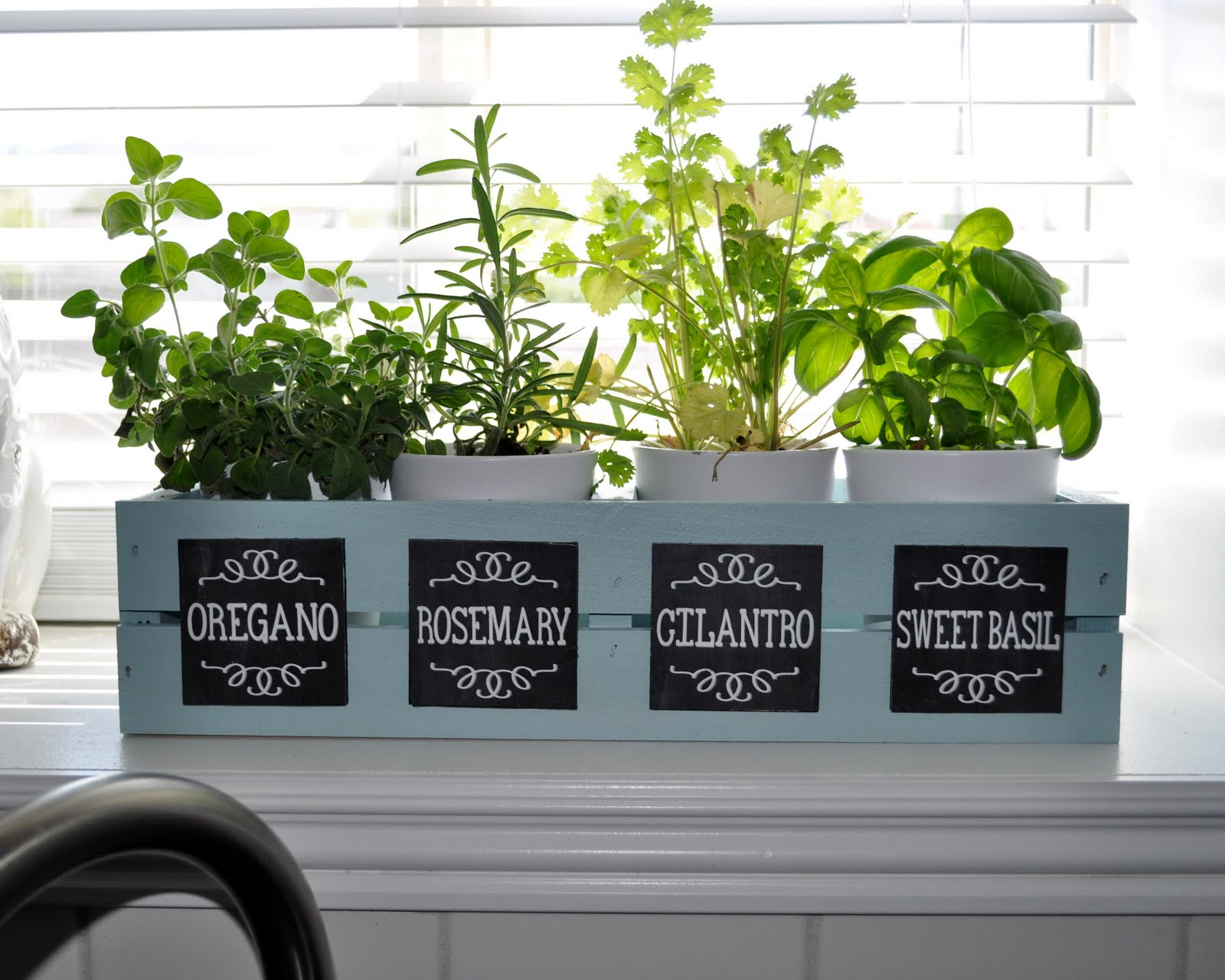 Herb Garden With Chalkboard Labels Sy Sanctuary