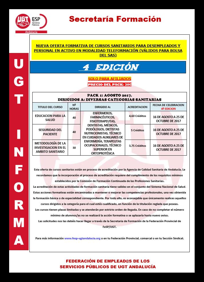 Ugt distrito sanitario m laga guadalhorce pack cursos for Sanitarios online
