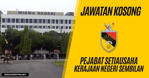 Jawatan Kosong di Pejabat Setiausaha Kerajaan Negeri Sembilan (SUKNS) 2019