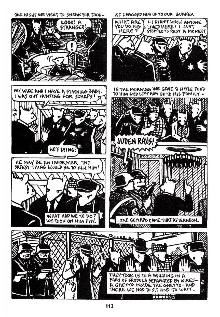 An analysis of mouse holes chapter 5 of the novel maus by art spiegelman