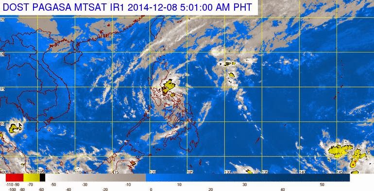Typhoon Ruby PAGASA Latest Weather Update (December 8, 2014)