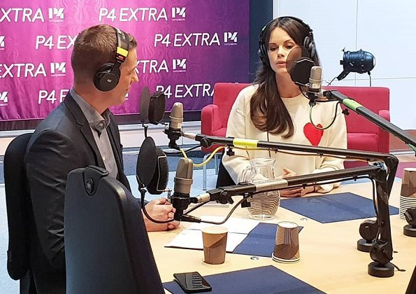 Princess Sofia was the guest of the day on P4 Extra, Sveriges Radio