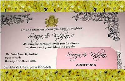 Srija's wedding invitation card