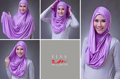 Tips Mudah Memakai Hijab Pashmina Kaos Simple Terbaru