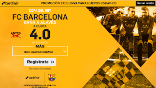 betfair supercuota 4 Barcelona gana al Alavés final copa 27 mayo