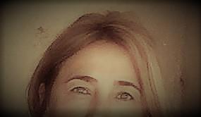 Detalle de la mirada de Altamira Sarabia