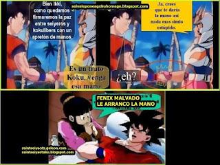 Memes: fénix Ikki y Goku.