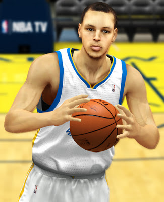 NBA 2K13 Stephen Curry Cyberface Patches