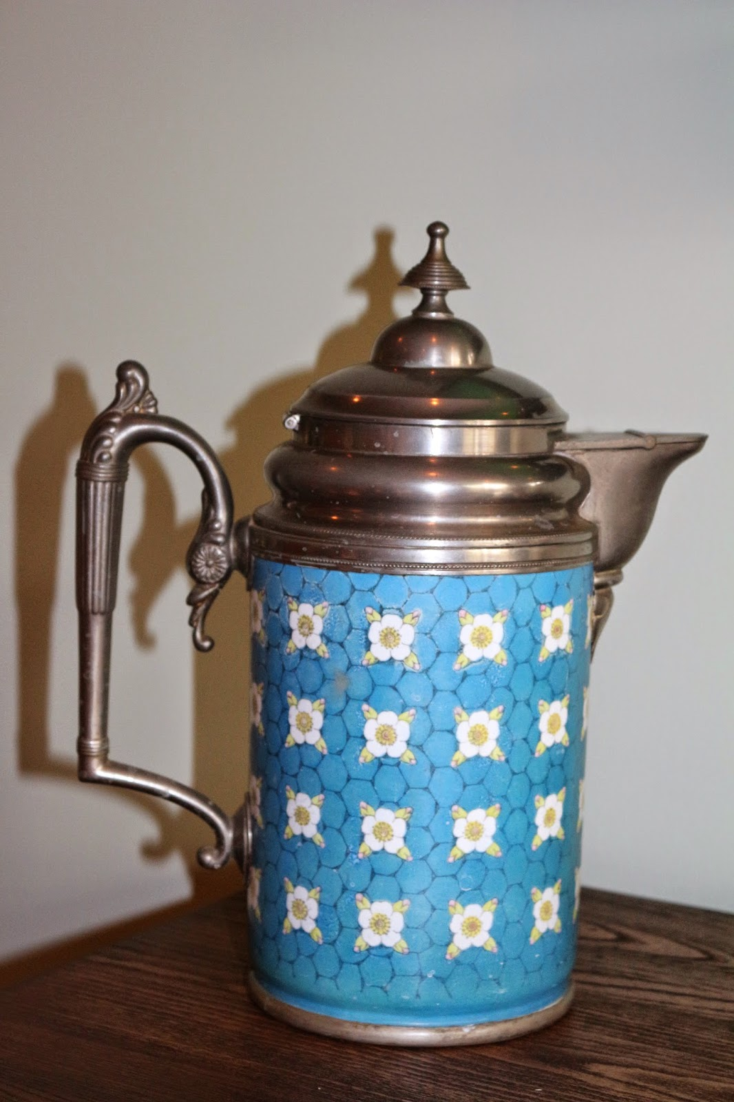 Vintage Blue Coffee Pot... Living From Glory To Glory Blog...