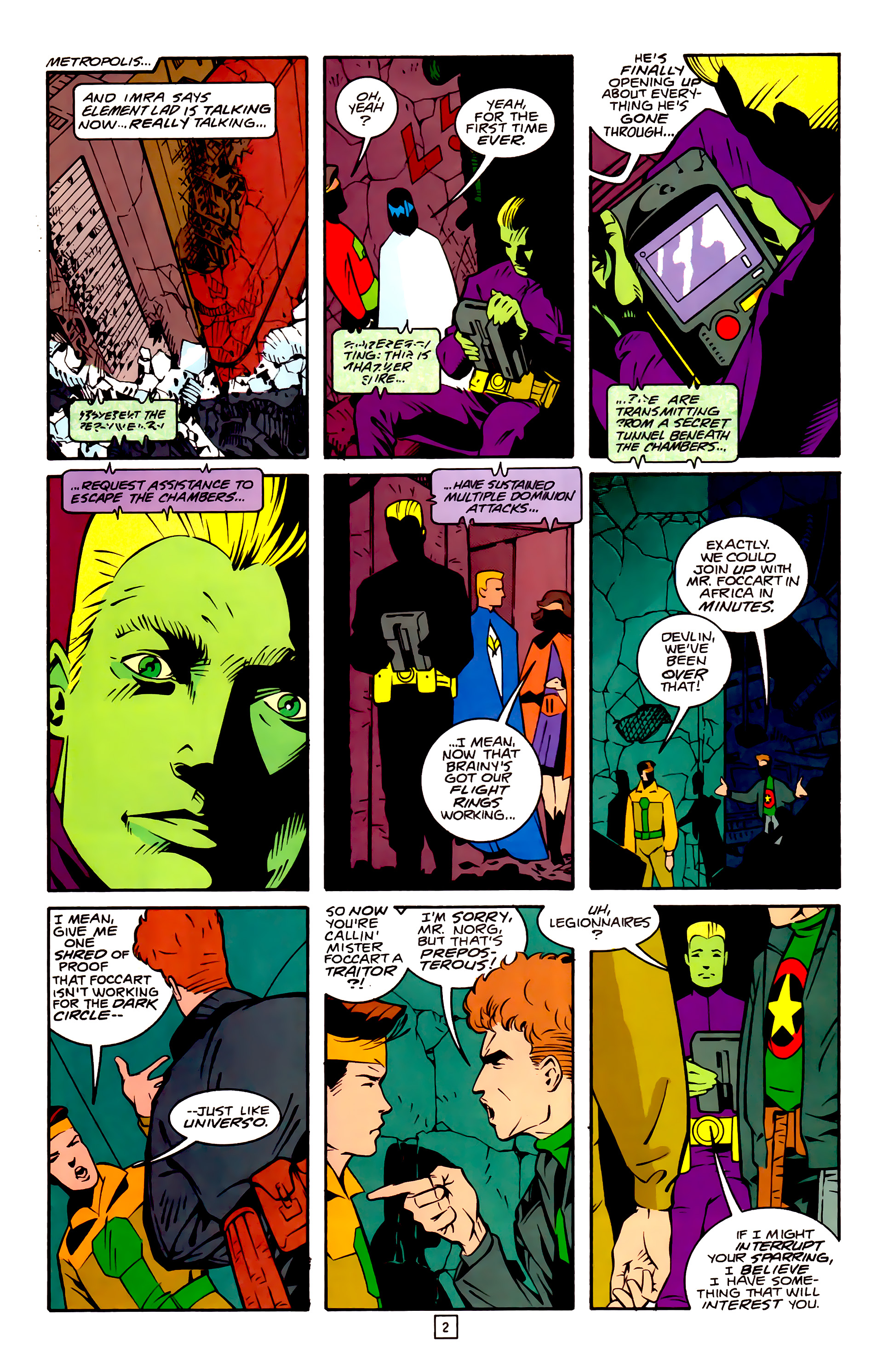 Legion of Super-Heroes (1989) 32 Page 2