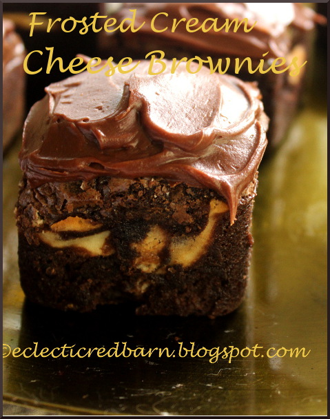 Eclectic Red Barn: Cream Cheese Brownies in a Brownie Bar Pan