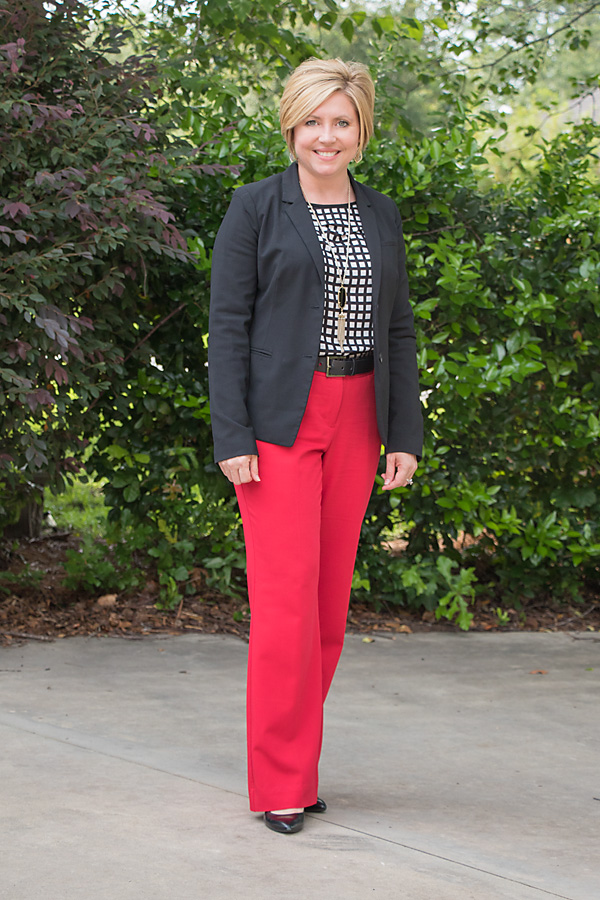 Grid top and red trousers (and a few Nsale picks)