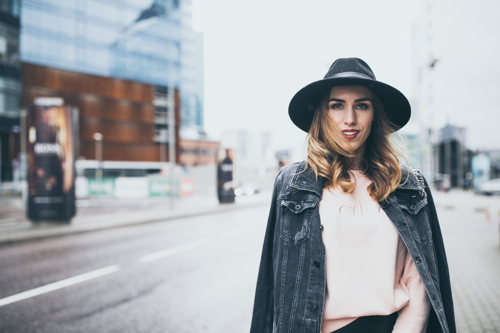 black fedora outfit fall